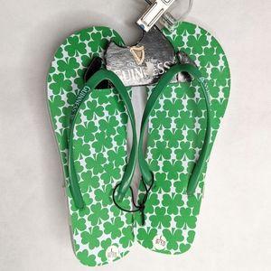 Guinness Flip Flops L 9-10  Clovers Official Women